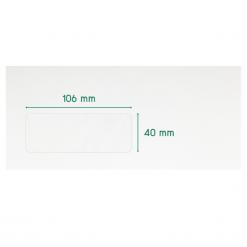 #9 ซองจดหมาย หน้าต่าง 106x40 ขาว